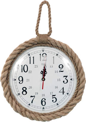Dennis East Rope-Trimmed Wall Clock