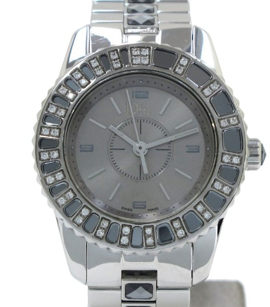 Christian Dior  Christian Dior Crystal Stainless Steel 28mm Womens Watch