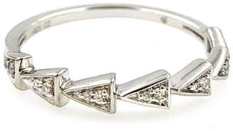 Adina Pave Triangle-Link Ring