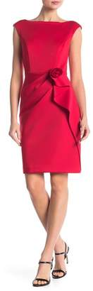 Vince Camuto Boat Neck Flower Detail Bodycon Dress