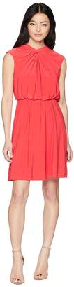 Adrianna Papell Petite Matte Jersey Fit and Flare Women's Dress