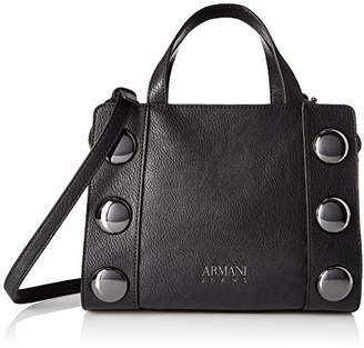 Armani Jeans Top Handle Large Studded Bag