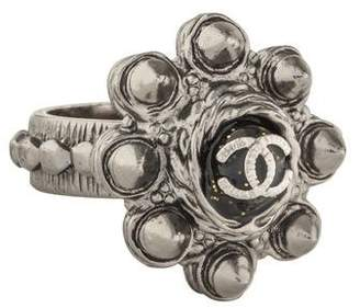 Chanel CC Studded Resin Ring