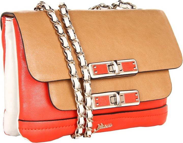 GUESS Siggy Small Flap (Red Multi) - Bags and Luggage