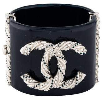 Chanel CC Crystal Resin Bangle