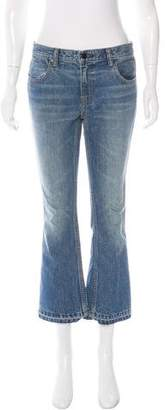 Alexander Wang Denim x Straight-Leg Mid-Rise Jeans