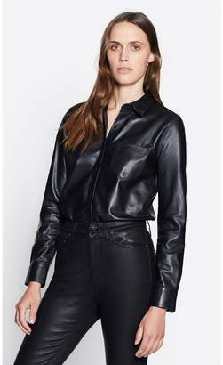 Equipment Brett Leather Shirt