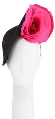 Philip Treacy Slice Straw Hat w/ Oversized Flower