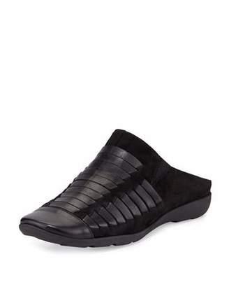 Sesto Meucci Gordana Woven Leather Mule, Black $340 thestylecure.com