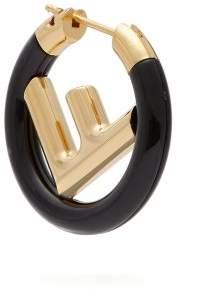 Fendi F Is Hoop Single Earring - Womens - Black