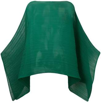 Pleats Please Issey Miyake pleated cape
