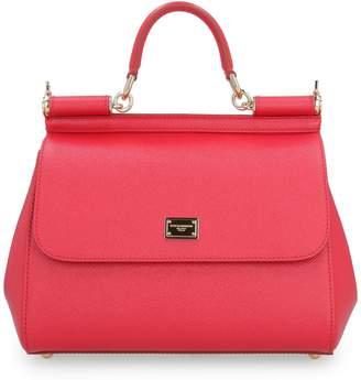 Dolce & Gabbana Sicily Leather Handbag