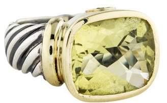 David Yurman Citrine Large Noblesse Ring