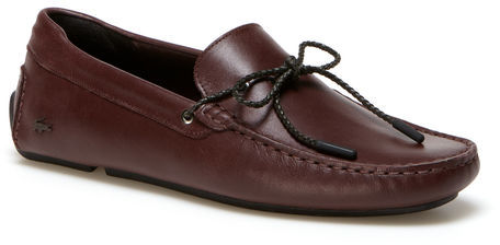 Lacoste Men's Pilote Cord Accent Leather Loafers