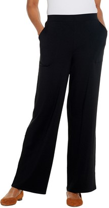 Denim & Co. Beach Tall Pull-On Wide Leg Knit Pants