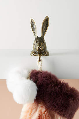 Anthropologie Rabbit Stocking Holder