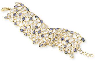 Monica Rich Kosann 18K Blue Sapphire & Rock Crystal Mosaic Bracelet