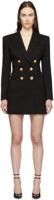 Balmain Black Virgin Wool Double-Breasted Dress