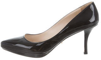 prada Prada Patent Leather Pumps