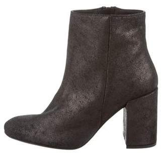 Barneys New York Barney's New York Leather Round-Toe Ankle Boots
