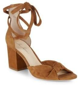 Isa Tapia Carina Suede Block Heel Sandals