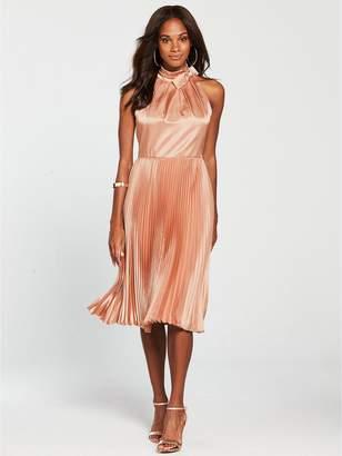 Ted Baker Shineey Pleated Dress - Dusky Pink