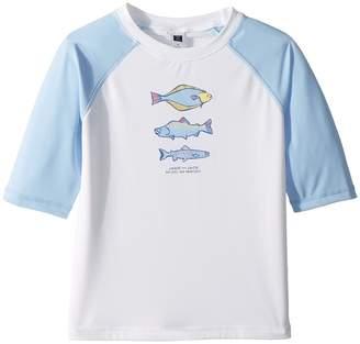Janie and Jack Short Sleeve Graphic Rashguard Boy's Swimwear