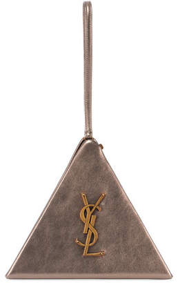 Saint Laurent Monogram Metallic Pyramid Bag