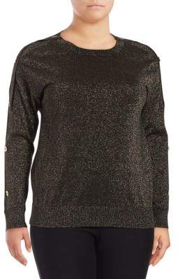 MICHAEL Michael Kors Plus Buttoned Sweater