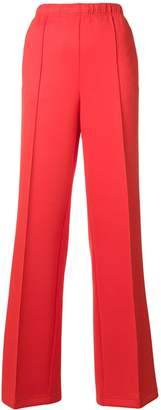 Prada logo patch flared trousers