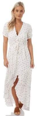 MinkPink New Women's Womens Rosebud Maxi Dress V-Neck Polyester Multi M