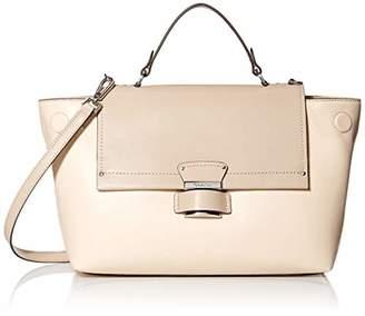 Calvin Klein Delancy Hermine Leather Top Handle Satchel
