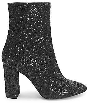 Saint Laurent Women's Loulou Glitter Zip-Up Ankle Boots
