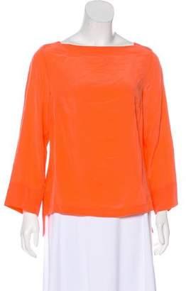 Trina Turk Silk Long Sleeve Top