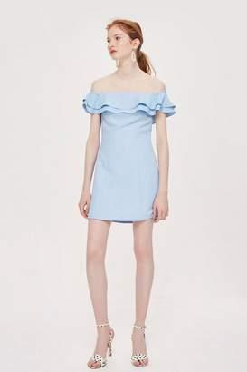 Topshop Ruffle Mini Bardot Dress