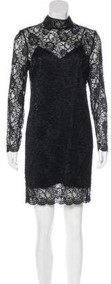 The Kooples Lace Long Sleeve Mini Dress