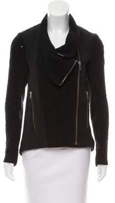 Helmut Lang Knit Biker Jacket