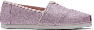 Toms Ballet Pink Glitter Youth Classics