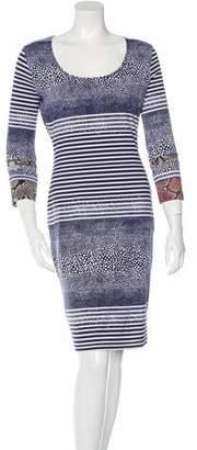 Preen by Thornton Bregazzi Preen Printed Three-Quarter Sleeve Dress