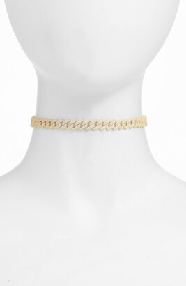 Adina's Jewels Pave Chain Link Choker Necklace