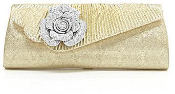 Kate Landry Flap Flower Clutch
