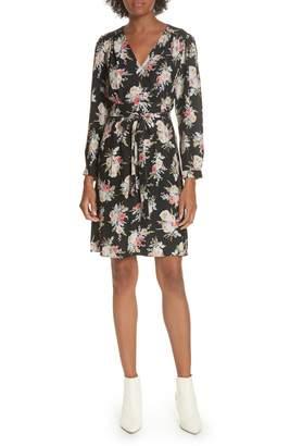 Rebecca Taylor Bouquet Silk A-Line Dress