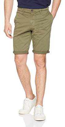 Tom Tailor Men's Slim Chino Shorts Stretch (Oak Leaf Green 7512), (Size: Medium)