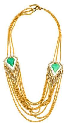 Alexis Bittar Chrysoprase & Crystal Multistrand Necklace