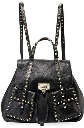 Valentino Rockstud Double-Pocket Backpack