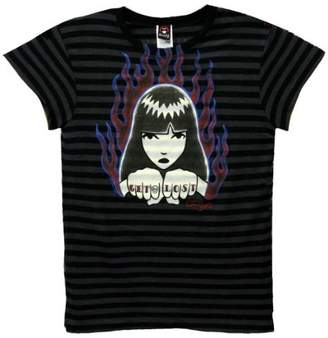 Emily the Strange Fists Of Fire Juniors T-Shirt