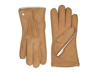 UGG Leather and Water Resistant Sheepskin Mixed Gloves