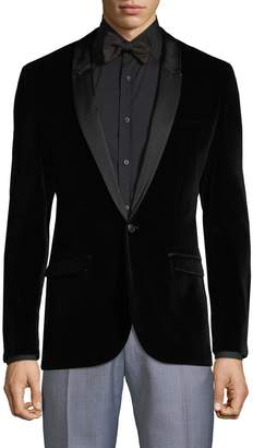 HUGO Arti Shawl Collar Velvet Jacket