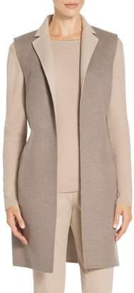 St. John Doubleface Cashmere Reversible Vest