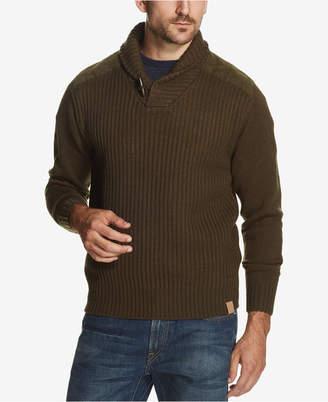 Weatherproof Vintage Men's Toggle Shawl-Collar Sweater